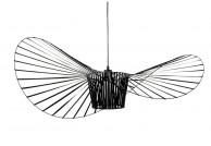Designerska czarna lampa wisząca Capelo 140 cm, czarny żyrandol capelo, czarne lampy