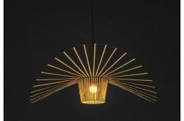 Designerska, złota lampa wisząca Capelo 100  / 140 cm