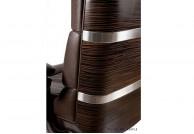 LORD Skórzany fotel gabinetowy / brązowy, skórzane fotele gabinetowe lord