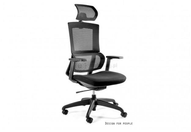 Czarny fotel biurowy Elegance, fotele biurowe czarne elegance