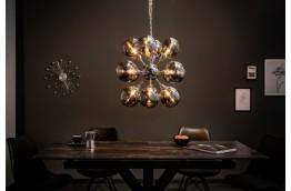srebrny żyrandol, lampa wisząca Galaxy, oświetlenie do salonu, nowoczeseny żyrandol srebrny