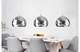 srebrny żyrandol, lampa wisząca Chromagon, oświetlenie do salonu, oświelenie do jadalni , nowoczeseny żyrandol srebrny