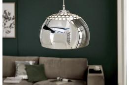 srebrny żyrandol, lampa wisząca Chrome Ball, oświetlenie do salonu, oświetlenie do jadalni , nowoczesny żyrandol srebrny