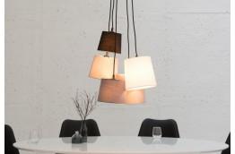 lampa wisząca Levels czarny szary biały, oświetlenie do salonu, oświetlenie do jadalni , nowoczesny żyrandol czarny szary biały