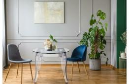stół transparentny , stół szklany , stół do salonu , stół do biura , mały stół