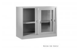 Zamykana, metalowa szafka biurowa Irina- 3 kolory