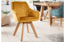 Krzesło z aksamitu z bukowymi nogami Livorno / 180 stopni