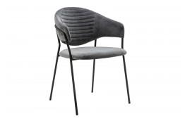Krzesła tapicerowane welurem Naomi / czarne nogi