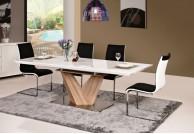 stół-rozkładany,stół-do-jadalni,stół-nowoczesny,stół-połysk-biały, stół-dąb-sonoma, stół-drewniany,