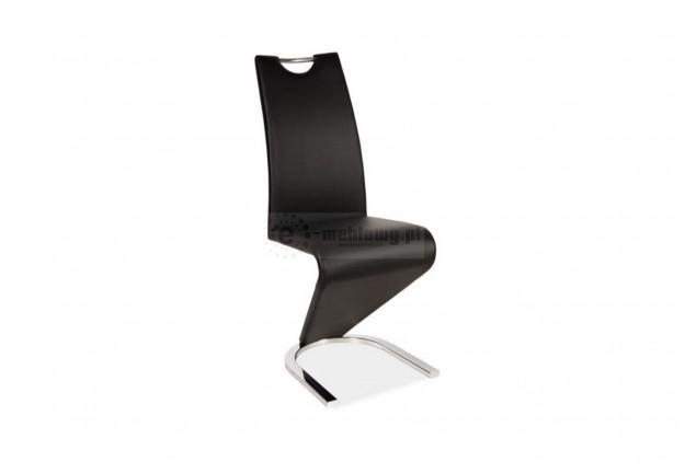 krzesło, krzesła, krzesło do jadalni, krzesło do salonu, krzesło ekoskóra,czarny, chrom,