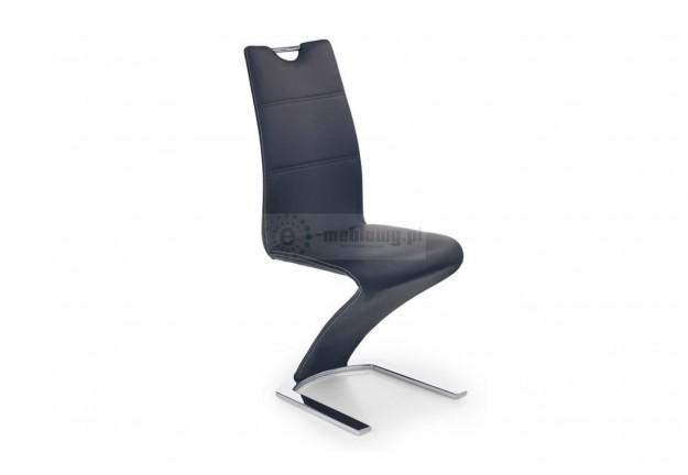 krzesło, krzesła, krzesło do jadalni, krzesło do salonu, krzesło ekoskóra, czarny, chromowan