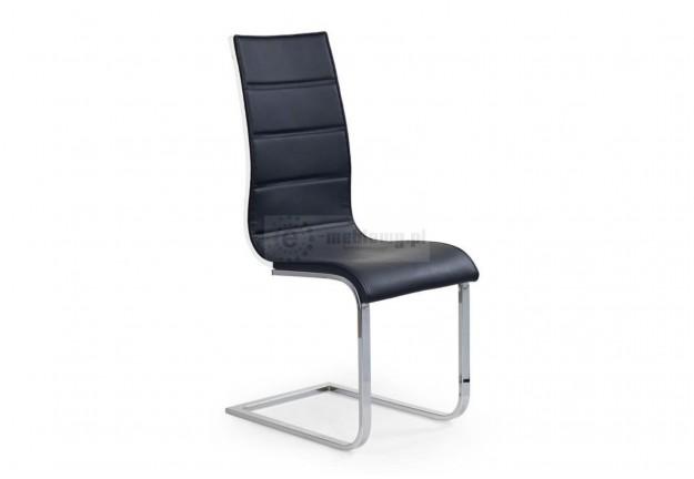 krzesło, krzesła, krzesło do jadalni, krzesło do salonu, krzesło ekoskóra, sklejka laminowana,biały-szary,chromowane
