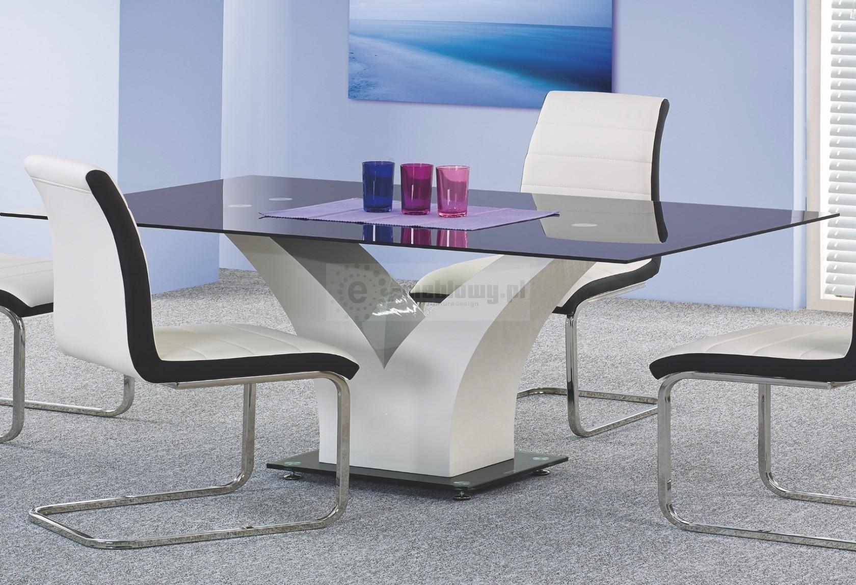 Niewiarygodnie Stół szklany Jasper, stół połysk, nowoczesny stół do jadalni, stół, DC08