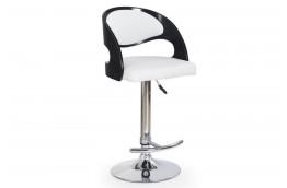 hoker, hokery, hokery nowoczesne, stołki barowe, sklejka gięta, ekoskóra, czarno-biały