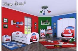 meble do pokoju dziecięcego, łóżko dla dziecka, łóżko dla chłopca, łóżko dziecięce samochód, białe łóżko dla chłopca