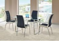 krzesło, krzesła, krzesło do jadalni, krzesło do salonu, krzesło ekoskóra, czarno-biały,zestaw, ty