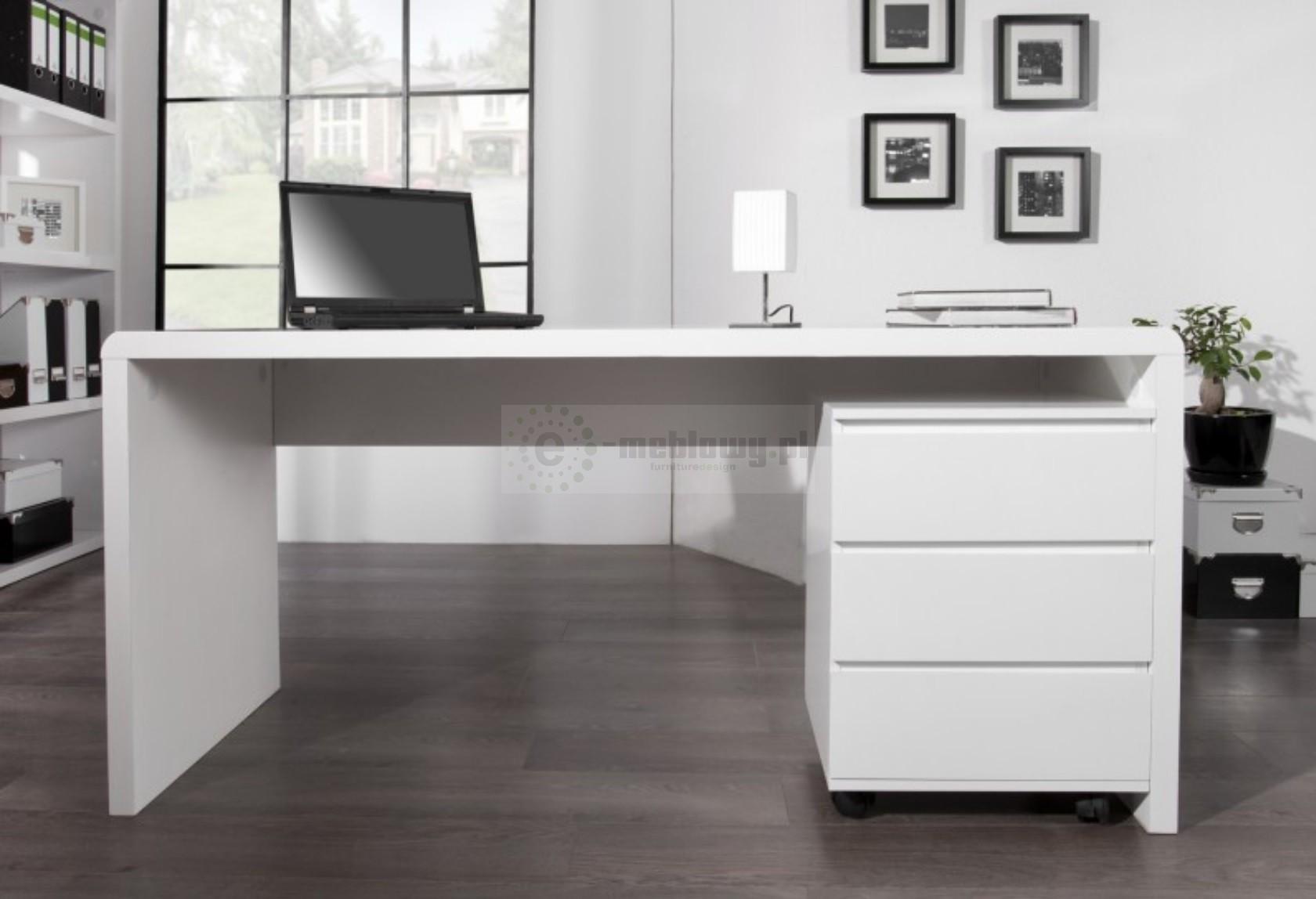 nowoczesne biurko biurko biurka meble biurowe bia e biurko 160 cm. Black Bedroom Furniture Sets. Home Design Ideas