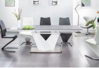 stół, stoły, nowowczesny stół lakierowany, stół light, stół czarno biały, stół do salonu
