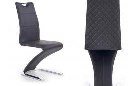 krzesło, krzesła, krzesło do jadalni, krzesło do salonu, krzesło ekoskóra, biały, chromowane, tył pikowany