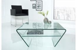 stolik kawowy, ława szklana, szklany stolik kawowy, szklana ława z półką, stolik do salonu