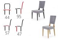 krzesło, krzesła, krzesło do jadalni, krzesło do salonu, krzesła grafitowe, nowoczesne krzesła