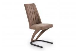 krzesła do salonu, krzesła do jadalni, krzesła brązowe, nowowczesne krzesła, krzesła z ekoskóry