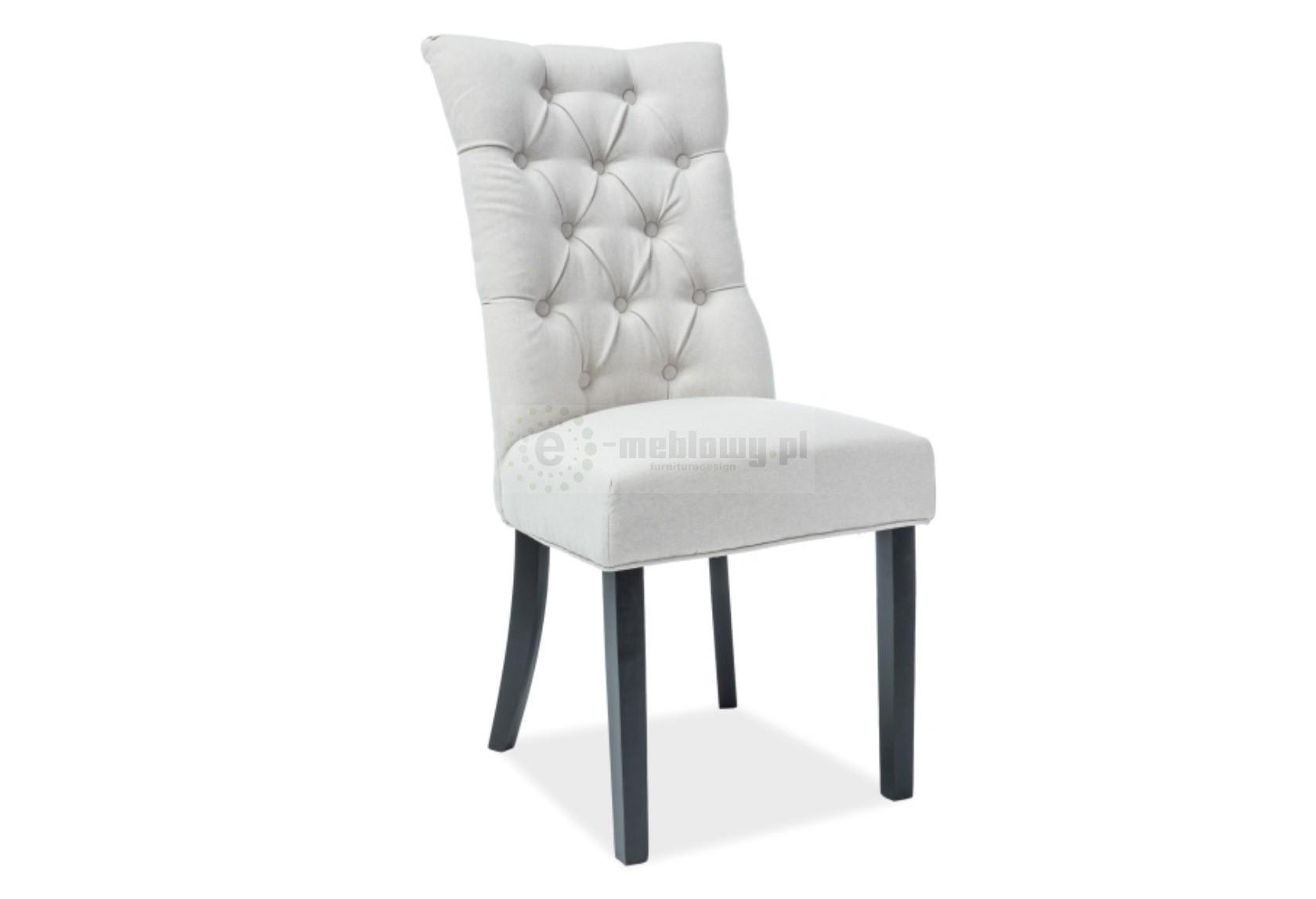 Stylowe krzesło do salonu Nero, krzesło do jadalni, krzesła