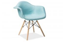 krzesła nowoczesne, krzesła z tkaniny w stylu skandynawskim, niebieskie krzesła, lekkie krzesła