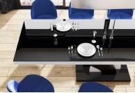 stół do salonu, nowoczesne stoły, stół bella, lakierowane stoły, stoły w połysku,stół czarny+biały, polskie stoły