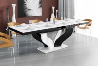 stół do salonu, nowoczesne stoły, stół viva, lakierowane stoły, stoły w połysku,stół rozkładany,biały+czarny+biały