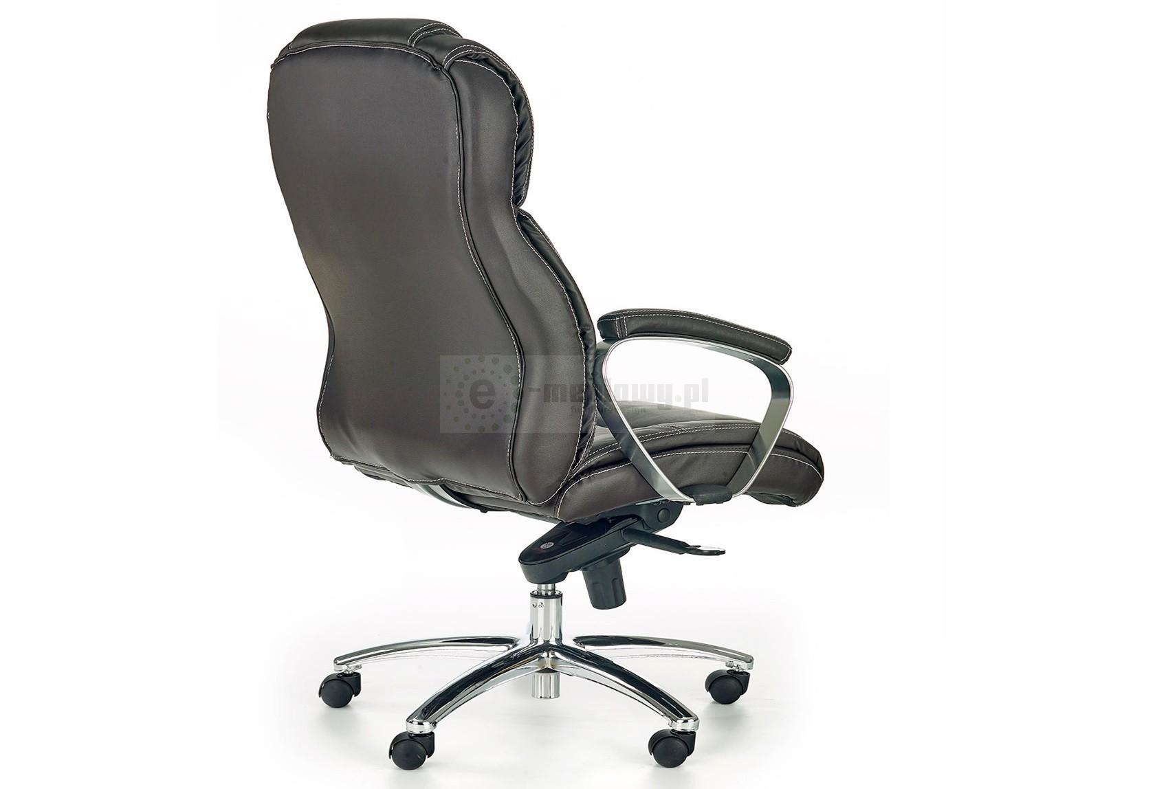 Skórzany fotel gabinetowy Foster, Fotel biurowy ze skóry Foster