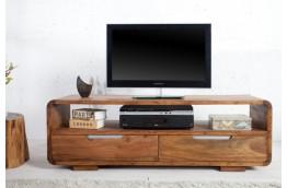 Drewniana szafka pod telewizor z szufladami Goa - palisander