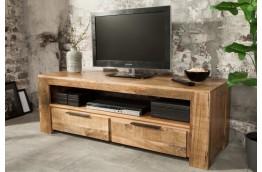 Drewniana szafka pod telewizor z szufladami Yuka - mango