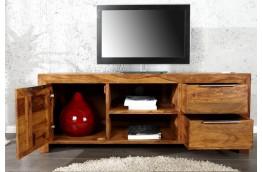 Szafka pod telewizor z szufladami, drewniana szafka pod telewizor z szufladami, palisander,brązowa szafka rtv