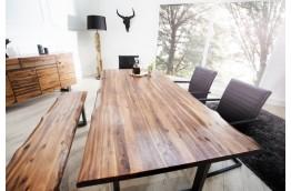 drewniany stół do salonu, stół z drewna akacjowego, drewniany stół 160 cm, stół Genesis