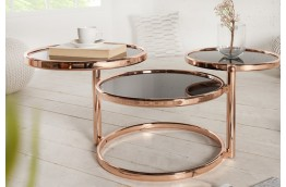 stolik 3 w 1 do salonu, miedziano czarny stolik do salonu, stolik kawowy, nowoczesny stolik kawowy,stolik