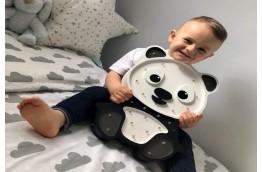 Drewniana lampka do pokoju dziecka Panda