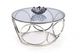 Okrągły, szklany stolik kawowy Venus 80 cm