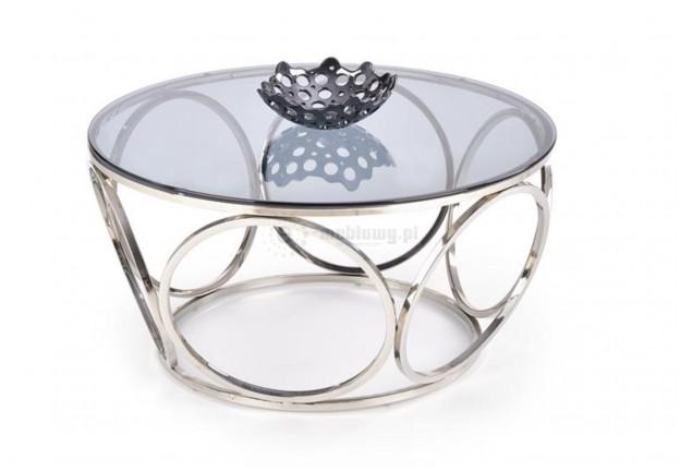 Okrągły, szklany stolik kawowy Venus 80 cm,  szklana ława do salonu Venus, stolik kawowy do salonu venus