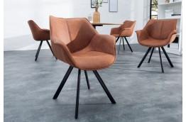 nowoczesne krzesła z mikrofibry brązowe i szare, krzesła wygodne do salonu dutch