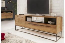 Drewniana szafka rtv 165x60x40 cm Pure - akacja