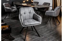 KRZESŁO Z FUNKCJĄ OBRACANIA 180 STOPNI LOUNGER, tapicerowane krzesła lounger