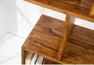 drewniany regał do salonu 150 cm Carra, regał z drewna palisander, regał na książki drewniany Carra