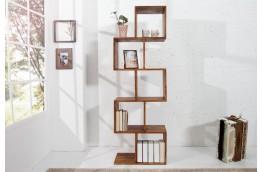 Drewniany regał do salonu Carra 150x50x30 cm - palisander