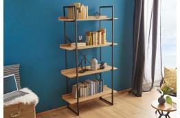 Regał na książki w industrialnym stylu Insert - 166x90x35 cm
