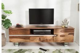 drewniana szafka pod telewizor, stolik rtv, szafka na telewizor z drewna Finca 160 cm,szafka rtv z szufladami Finca