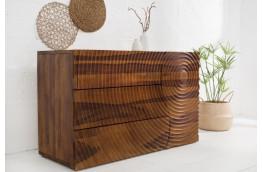 Oryginalna komoda z drewna palisander 120 cm Illusion