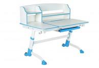 biurko dla dzieci amare II, biurka do pokoju dziecka amare II, różówo białe biurko amare II, biurko z regulacją wysokości amare