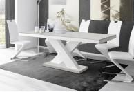 nowoczesny stół xenon czarno biały połysk, stół rozkładany xenon czarno biały
