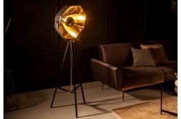 Czarno złota lampa podłogowa Movie II